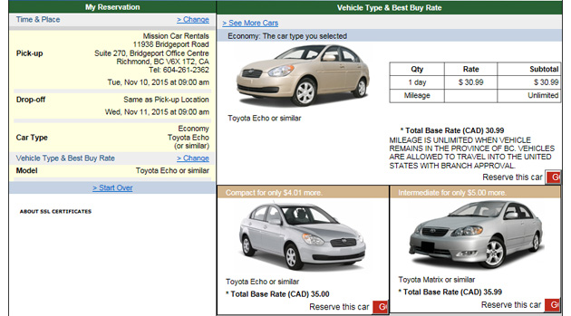 reservation for car rental software